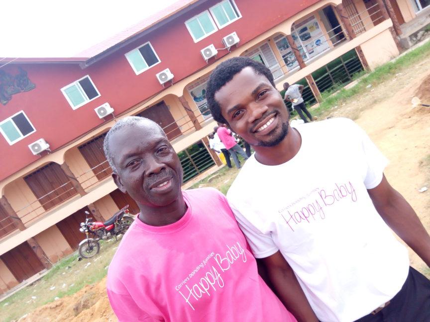 Happy Baby's Bismark and COFAG Director Mr. Patrick Ndabiah